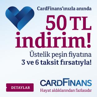 CardFinans 50 TL İndirim Kampanyası