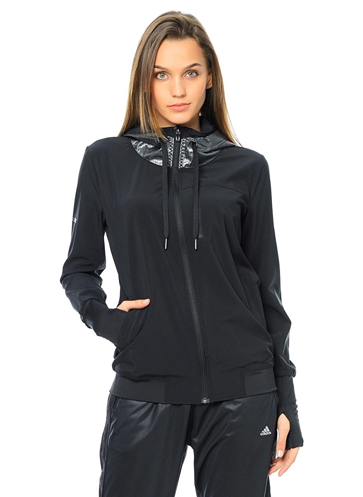 adidas - Kadın - Sweatshirt - M67098 Spo Wv Jacket,Black ...