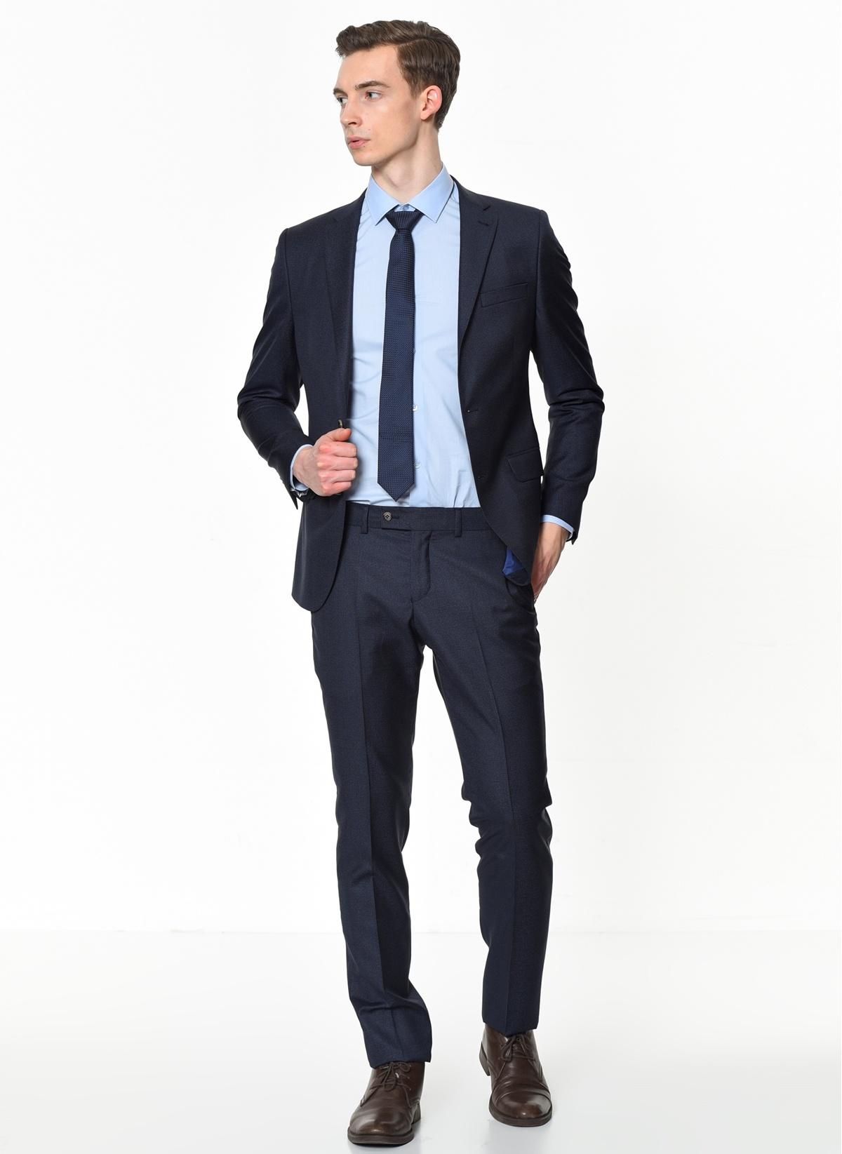 db5560cf2049a Beymen Business Erkek Takım Elbise Lacivert 48-6 Beden 4B3019100063 Ürün  Resmi
