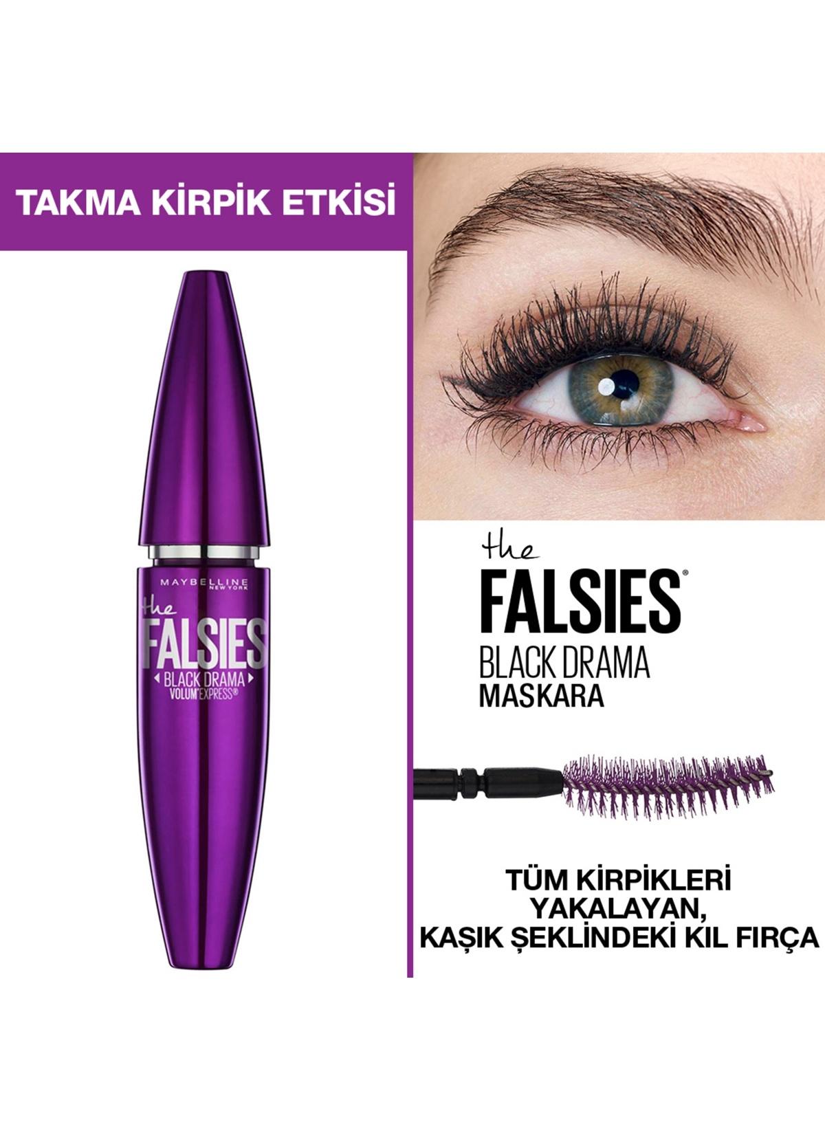 8b4ff97e930 Maybelline Kadın Volum' Express Falsies Black Drama Takma Kirpik Etkili  Siyah Maskara Siyah 3600531507282 Ürün